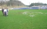 Glavno igrišče je bilo preveč razmočeno za normalno igranje nogometne tekme